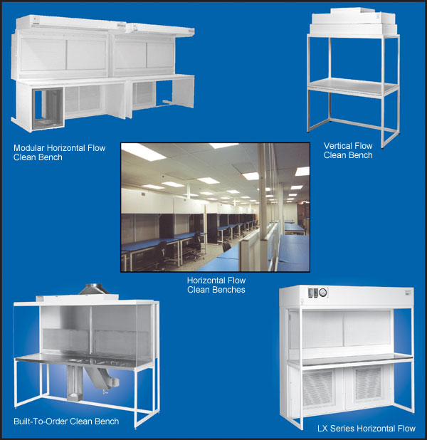 custom clean room benches